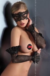 Livia Corsetti Gloves Black Model 10 LC 28008