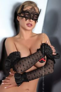 Livia Corsetti Gloves Black Model 11 LC 28009