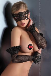 Livia Corsetti Mask Black Model 4 Księżna
