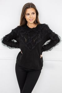Sweter Nicola Lace Black G2559