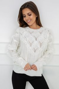 Sweter Nicola Lace White G2559